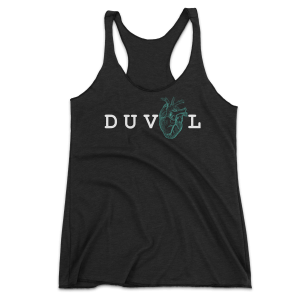 My Heart Is In DUVAL - Women's Racerback - Heather Black